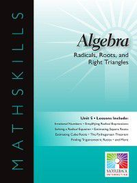 Mathskills: Algebra 1: Radicals, Roots, and Right Triangles, Saddleback Educational Publishing