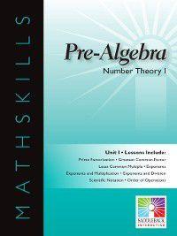 Mathskills: Pre-Algebra: Number Theory 1, Saddleback Educational Publishing