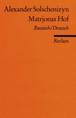Matrjonas Hof, Russisch-Deutsch - Alexander Solschenizyn pdf epub