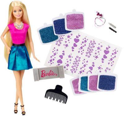 Mattel Barbie  Glitzer-Haar Barbie