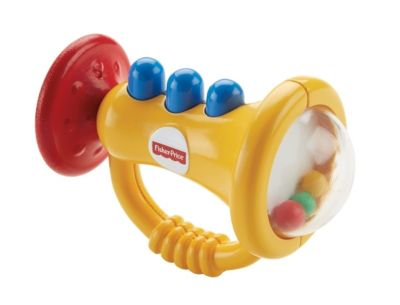 Mattel Fisher Price New Born Teethe 'n Rattle Trumpet