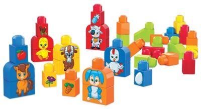 Mattel FLT36 Mega Bloks Kunterbunte Tierwelt