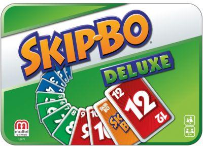 Mattel - Skip Bo Deluxe, Kartenspiel, in der Geschenkbox