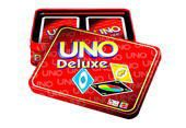 Mattel - Uno Deluxe, Kartenspiel, in der Geschenkbox