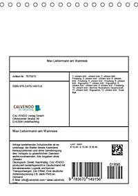 Max Liebermann am Wannsee (Tischkalender 2019 DIN A5 hoch) - Produktdetailbild 12