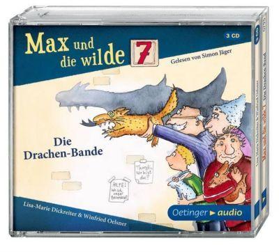 Max und die wilde Sieben, Die Drachenbande, 3 Audio-CDs, Lisa-Marie Dickreiter, Winfried Oelsner