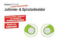 maxxcuisine Julienne- und Spiralschneider für Gemüse und Obst - Produktdetailbild 8