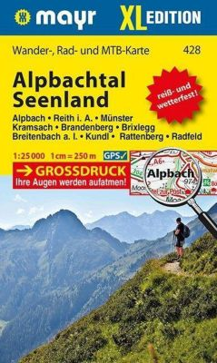Mayr Karte Alpbachtal, Seenland