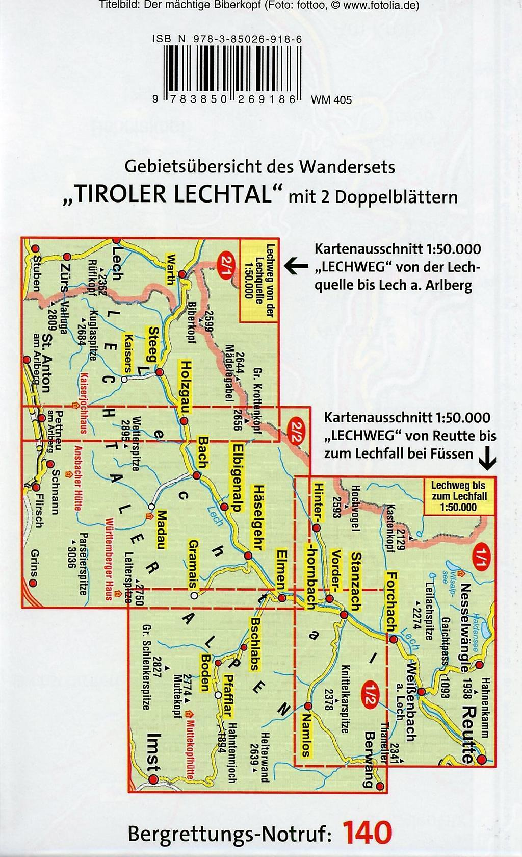 Lechweg Karte.Mayr Karte Ferienregion Tiroler Lechtal 2 Blätter Buch Portofrei