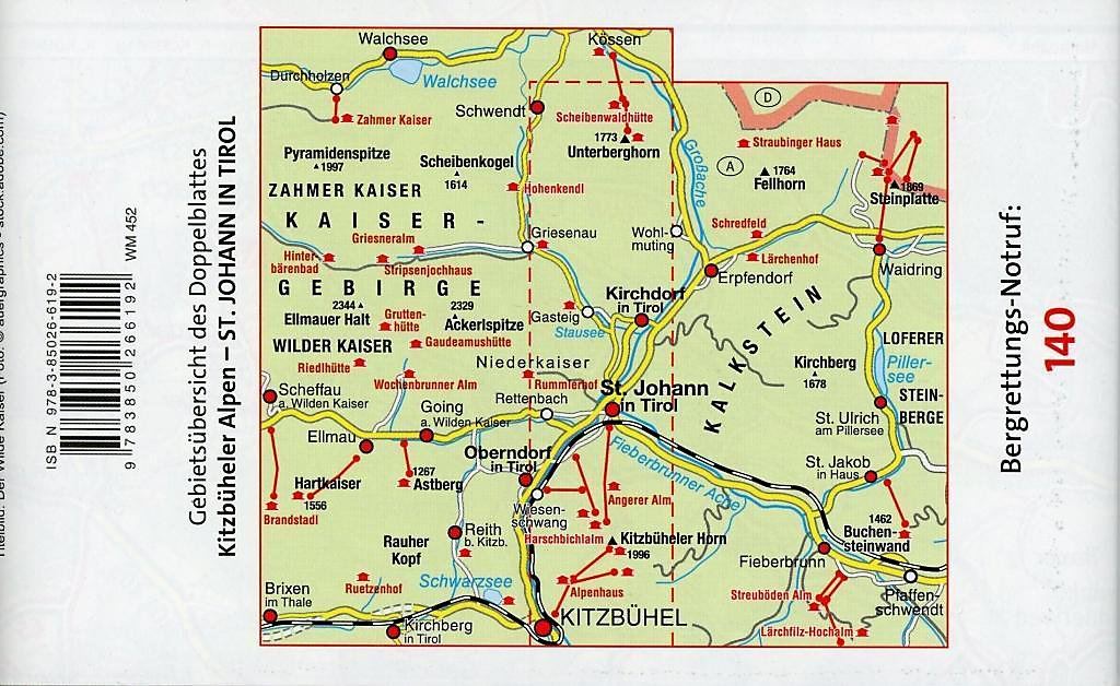 Karte Tirol.Mayr Karte Kitzbüheler Alpen St Johann In Tirol Buch Weltbild Ch