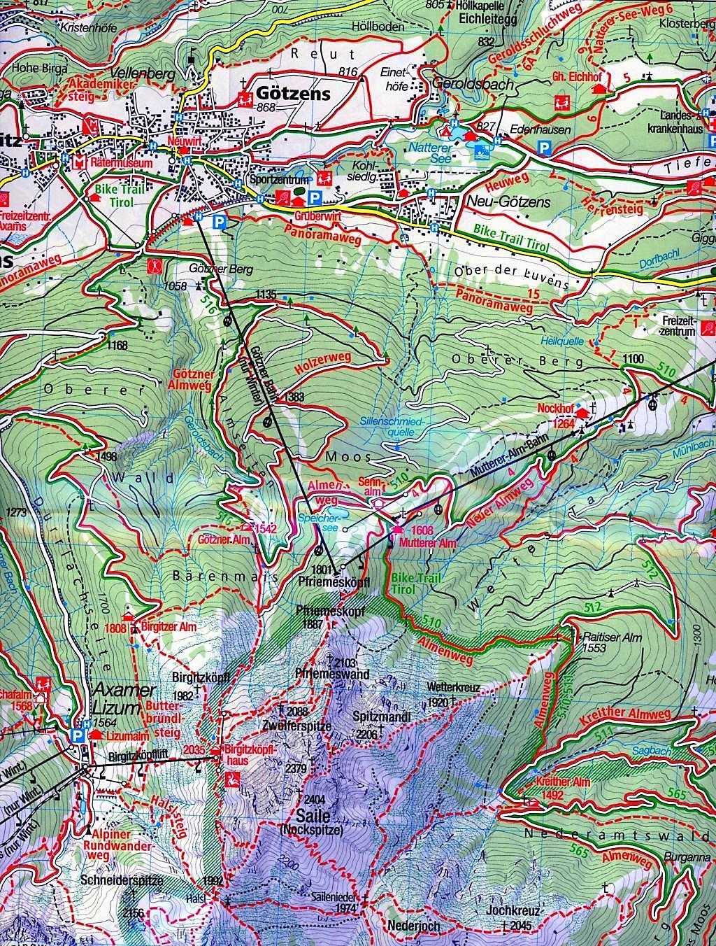 stubaital karte Mayr Karte Stubaital, 2 Bl. Buch portofrei bei Weltbild.de