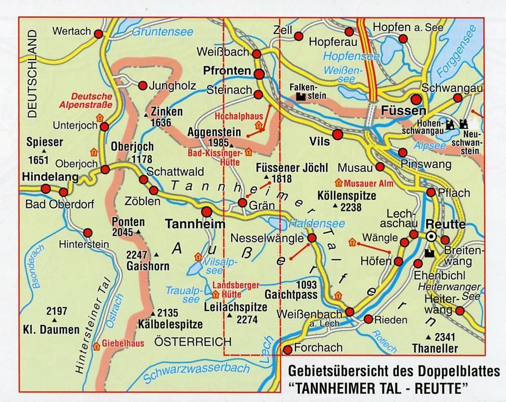 tannheimer tal karte Mayr Karte Tannheimer Tal, Reutte Buch bei Weltbild.de bestellen