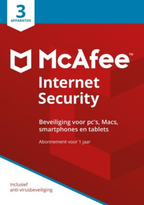 McAfee Internet Security 2018 NL (3D-1Y)