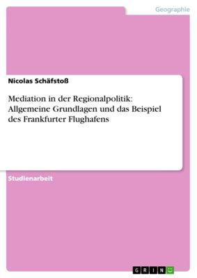 Mediation in der Regionalpolitik: Allgemeine Grundlagen und das Beispiel des Frankfurter Flughafens, Nicolas Schäfstoß