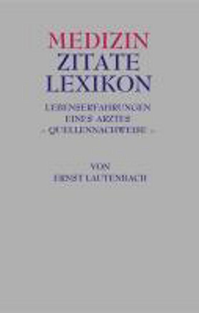 Medizin Zitate Lexikon Buch Portofrei Bei Weltbildde Bestellen