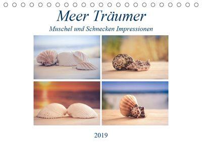 Meer Träumer - Muscheln und Schnecken Impressionen (Tischkalender 2019 DIN A5 quer), Steffen Gierok
