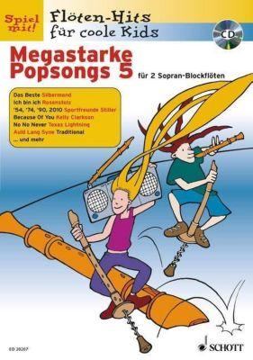 Megastarke Popsongs, Sopran-Blockflöte, m. Audio-CD