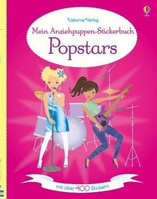 Mein Anziehpuppen-Stickerbuch: Popstars - Fiona Watt  