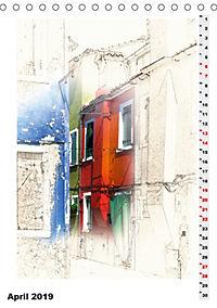 Mein Burano - Skizzen (Tischkalender 2019 DIN A5 hoch) - Produktdetailbild 4