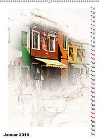 Mein Burano - Skizzen (Wandkalender 2019 DIN A2 hoch) - Produktdetailbild 1