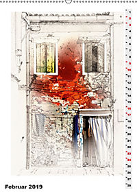 Mein Burano - Skizzen (Wandkalender 2019 DIN A2 hoch) - Produktdetailbild 2