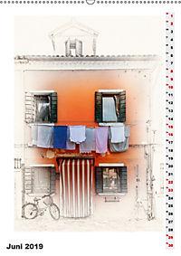 Mein Burano - Skizzen (Wandkalender 2019 DIN A2 hoch) - Produktdetailbild 6