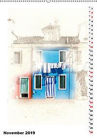Mein Burano - Skizzen (Wandkalender 2019 DIN A2 hoch) - Produktdetailbild 11