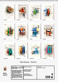 Mein Burano - Skizzen (Wandkalender 2019 DIN A2 hoch) - Produktdetailbild 13