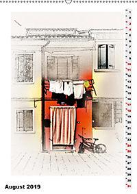 Mein Burano - Skizzen (Wandkalender 2019 DIN A2 hoch) - Produktdetailbild 8