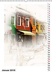 Mein Burano - Skizzen (Wandkalender 2019 DIN A3 hoch) - Produktdetailbild 1