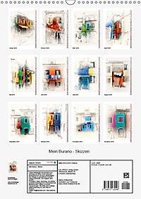 Mein Burano - Skizzen (Wandkalender 2019 DIN A3 hoch) - Produktdetailbild 13