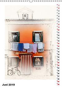 Mein Burano - Skizzen (Wandkalender 2019 DIN A3 hoch) - Produktdetailbild 6