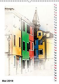 Mein Burano - Skizzen (Wandkalender 2019 DIN A3 hoch) - Produktdetailbild 5