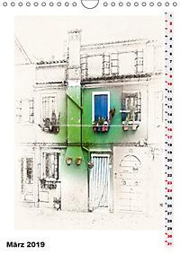 Mein Burano - Skizzen (Wandkalender 2019 DIN A4 hoch) - Produktdetailbild 3