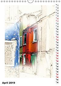 Mein Burano - Skizzen (Wandkalender 2019 DIN A4 hoch) - Produktdetailbild 4