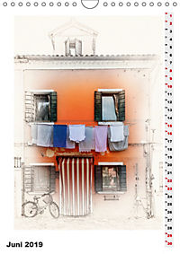 Mein Burano - Skizzen (Wandkalender 2019 DIN A4 hoch) - Produktdetailbild 6