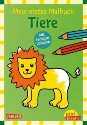 Mein erstes Malbuch mit farbigen Vorlagen: Tiere