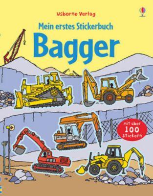 Mein erstes Stickerbuch: Bagger, Sam Taplin