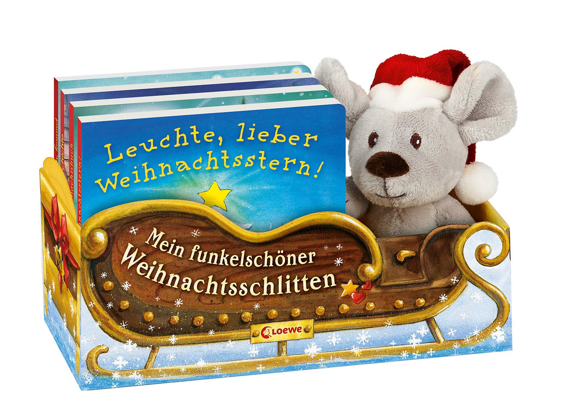 Mein funkelschöner Weihnachtsschlitten, 4 Bde. m. Plüschmaus im ...