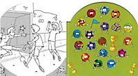 Mein Fußball Mal- und Stickerbuch - Produktdetailbild 1
