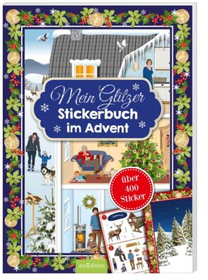 Mein Glitzerstickerbuch im Advent