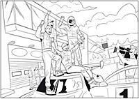 Mein großer Rennauto-Ausmalblock auf dem Nürburgring - Produktdetailbild 2