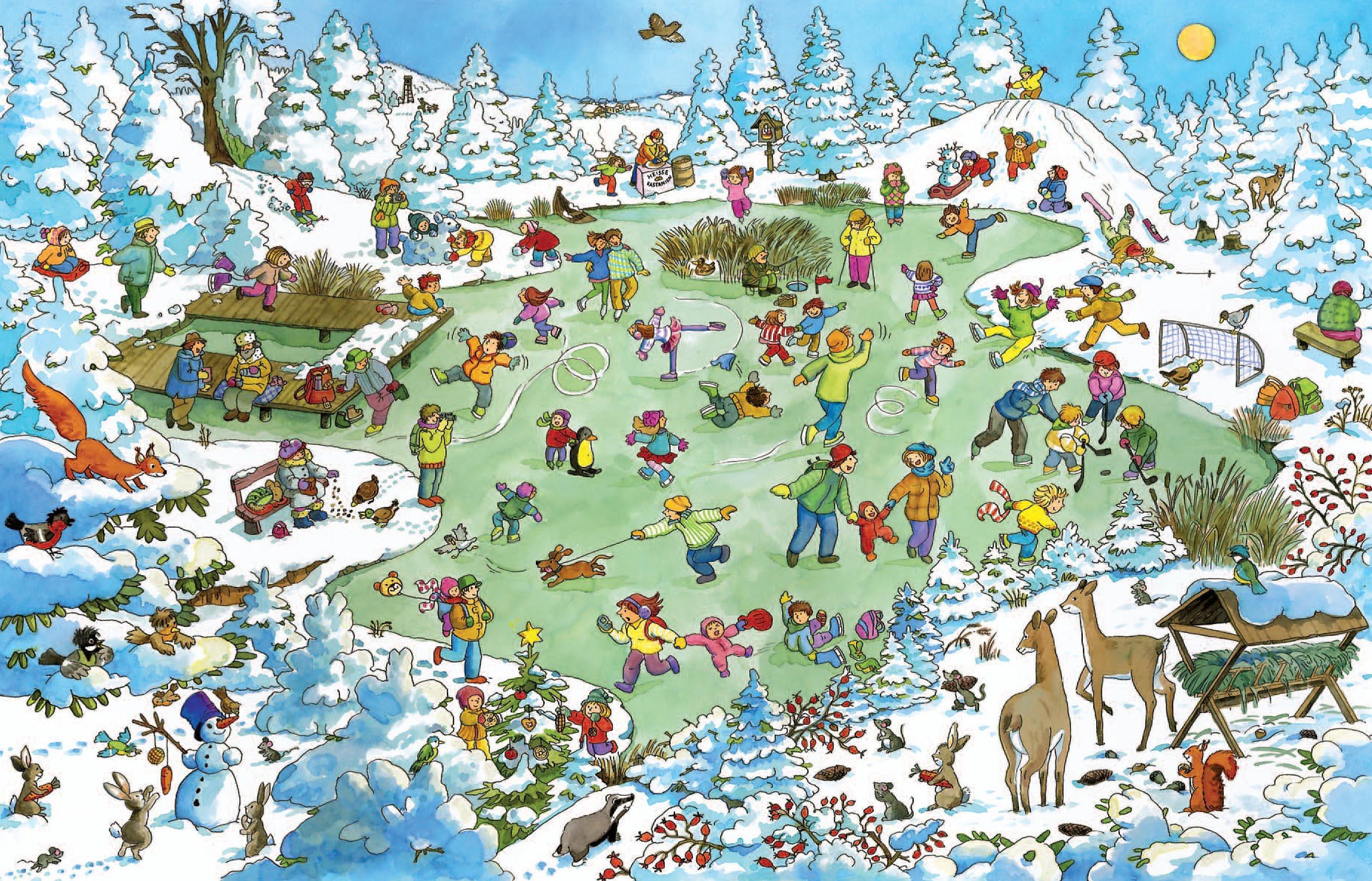 Wimmelbuch Weihnachten.Mein Großes Buntes Weihnachts Wimmelbuch Weltbild Ausgabe