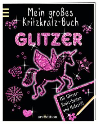 Mein grosses Kritzkratz-Buch Glitzer, Elizabeth Golding