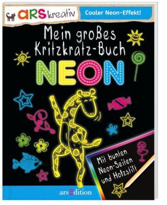 Mein großes Kritzkratz-Buch Neon, Elizabeth Golding