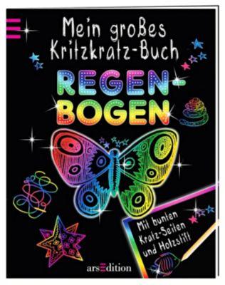 Mein grosses Kritzkratz-Buch Regenbogen, Elizabeth Golding