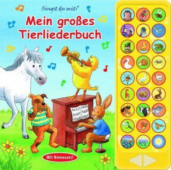 Mein grosses Tierliederbuch, 27-Button-Soundbuch