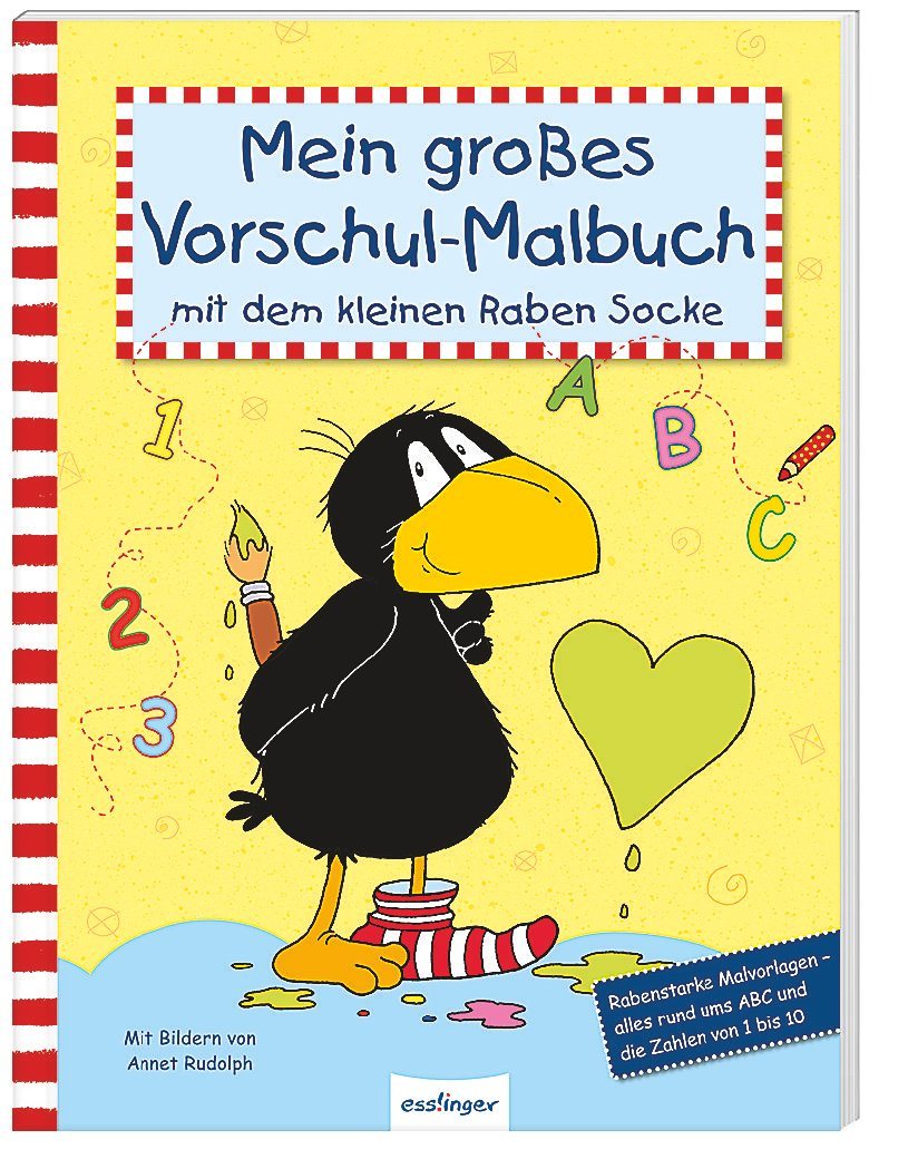 Mein Großes Vorschul Malbuch Mit Dem Kleinen Raben Socke Buch