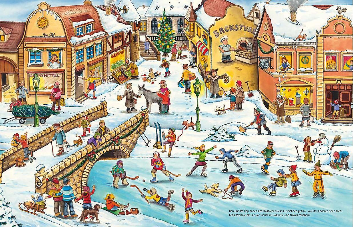 Wimmelbuch Weihnachten.Mein Großes Wimmelbuch Weihnachten Buch Bei Weltbild De Bestellen