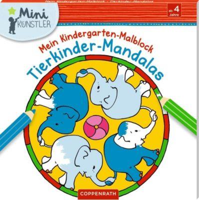 Mein Kindergarten-Malblock: Tierkinder-Mandalas